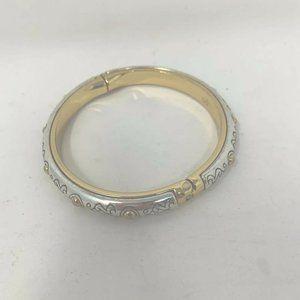 Brighton Silver Engraved Bracelet Bangle Gold